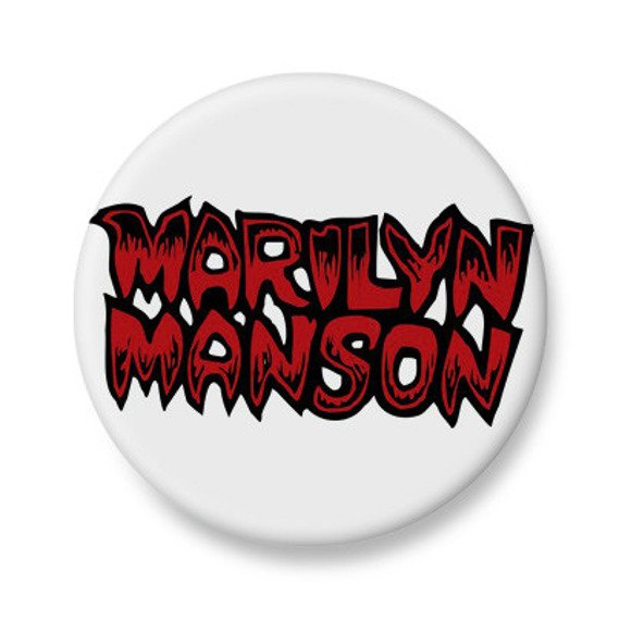kapsel biały MARILYN MANSON - RED LOGO