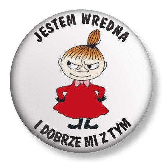 kapsel średni JESTEM WREDNA... Ø38mm