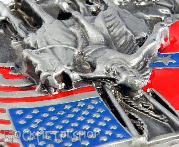 klamra do pasa INDIANIN/ FLAGA USA I KONFEDERACJI