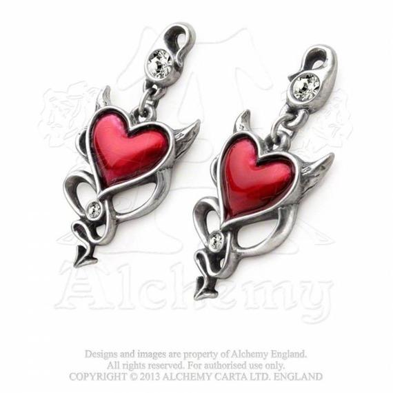 kolczyki do uszu DEVIL HEART