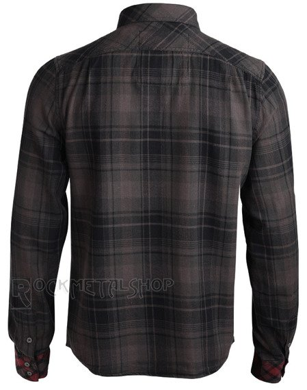 koszula CHECKSHIRT DUNCAN - BROWN BLACK