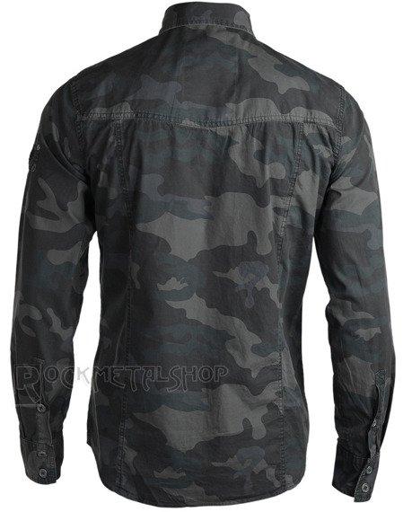 koszula MEN SHIRT SLIM - DARKCAMO