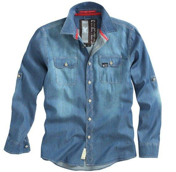 koszula RAW VINTAGE JEANS SHIRT DARK BLUE
