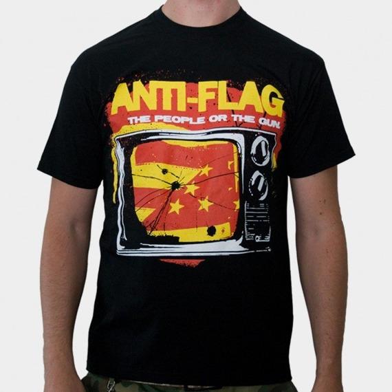 koszulka ANTI FLAG - THE PEOPLE OR THE GUN (BLACK)