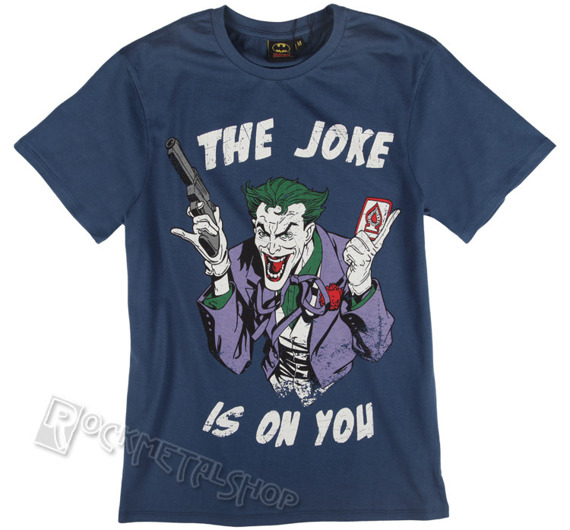koszulka BATMAN - JOKE IS ON YOU niebieska