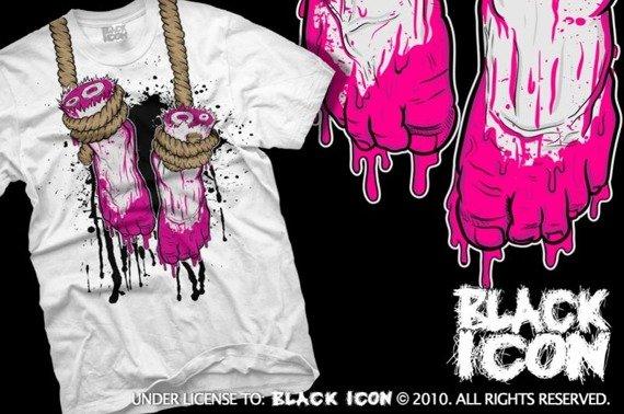 koszulka BLACK ICON - FEET (MICON104 WHITE)