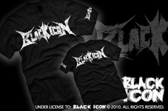 koszulka BLACK ICON - LOGO (MICON038 BLACK)