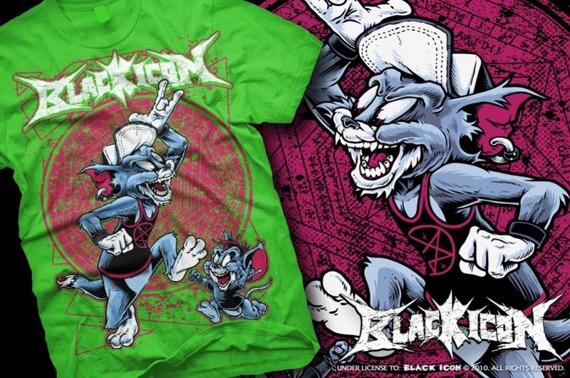 koszulka BLACK ICON - TOM AND JERRY (MICON036 KELLY GREEN)
