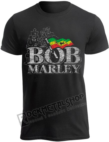 koszulka BOB MARLEY - DISTRESSED LOGO