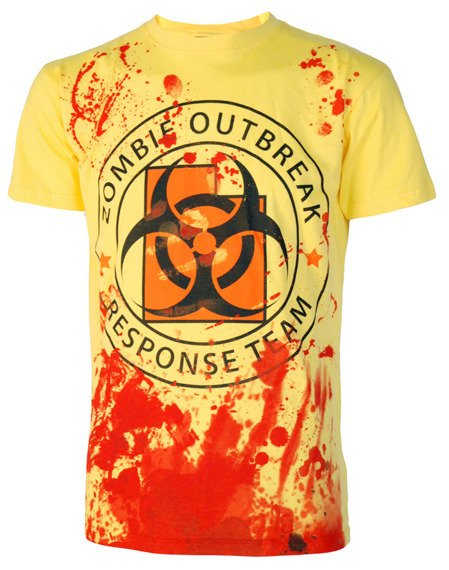 koszulka DARKSIDE - ZOMBIE RESPONSE TEAM żółta