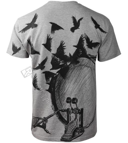 koszulka DRUMS & CROWS szary melanż