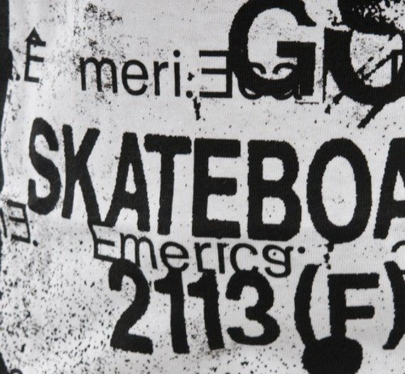 koszulka EMERICA - GO SKATE (WHITE) 09'