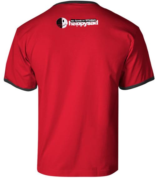 koszulka HAPPYSAD - NA ŻYWO W STUDIO czerwona