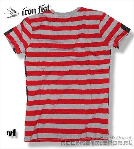 koszulka IRON FIST '09 (Shoreline Swallow) (Red/Cloudburst grey)