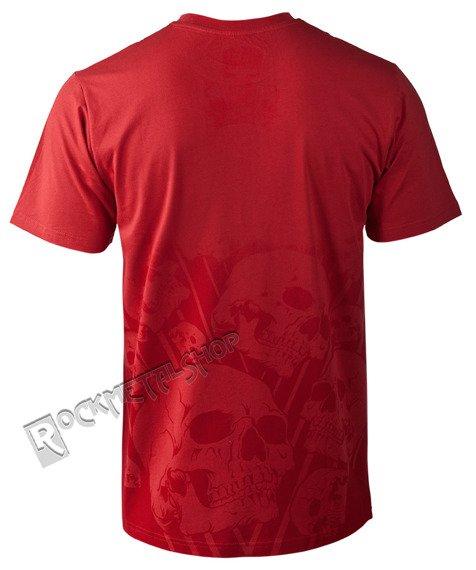 koszulka IRON FIST - FADED SKULL (CHILI RED)