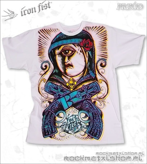 koszulka IRON FIST - NUNS WITH GUNS (WHITE)