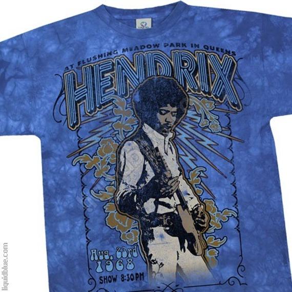 koszulka JIMI HENDRIX - HENDRIX 1968 barwiona