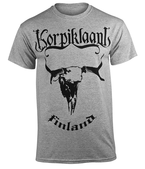 koszulka KORPIKLAANI - FINLAND szary melanż
