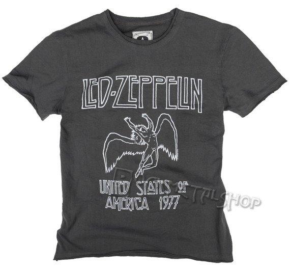koszulka LED ZEPPELIN - UNITED STATES OF AMERICA '77 szara