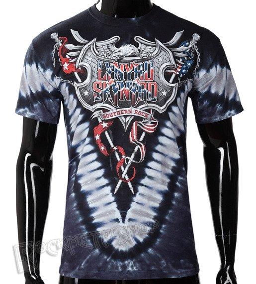 koszulka LYNYRD SKYNYRD - SOUTHERN ROCK SHIELD, barwiona