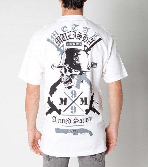 koszulka METAL MULISHA - ARMED SOCIETY biała