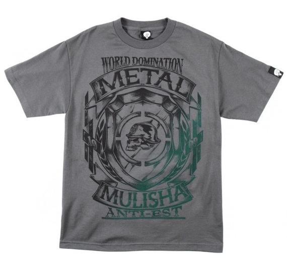 koszulka METAL MULISHA - ARMS szara