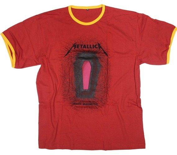 koszulka METALLICA - DEATH MAGNETIC czerwona