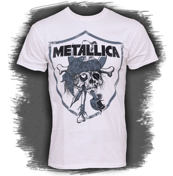 koszulka METALLICA - PIRATE RAIDERS white
