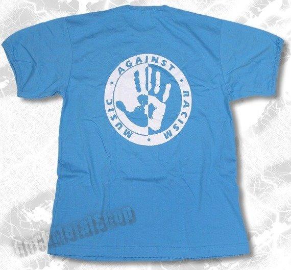 koszulka MUSIC AGAINST RACISM niebieska