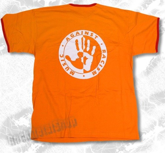 koszulka MUSIC AGAINST RACISM pomarańczowa