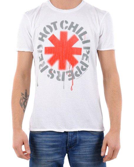 koszulka RED HOT CHILI PEPPERS - LOGO biała