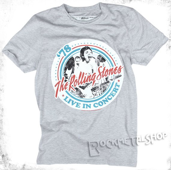 koszulka ROLLING STONES - TOUR szary melanż