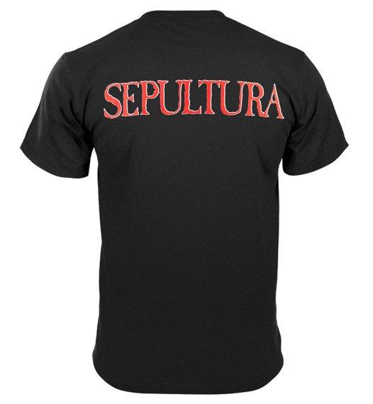 koszulka SEPULTURA - RED/WHITE LOGO