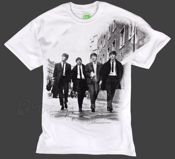 koszulka THE BEATLES - WALKING IN LONDON biała