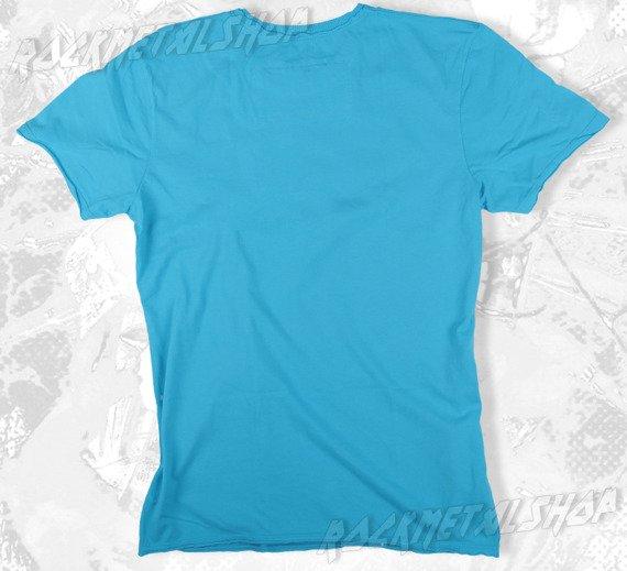 koszulka THE CLASH - SKULL niebieska