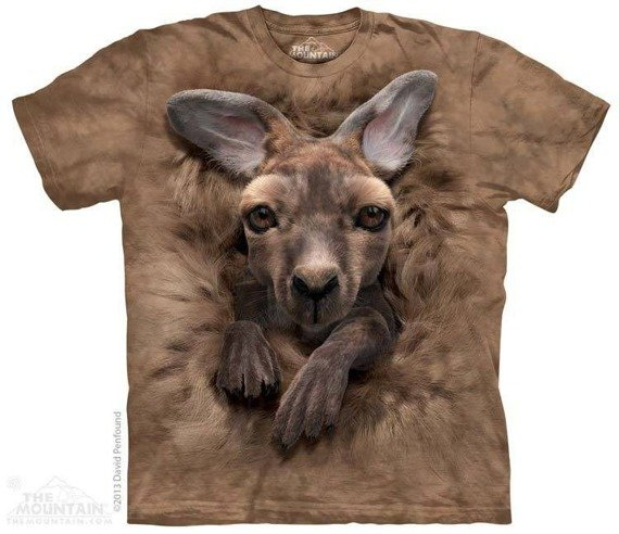 koszulka THE MOUNTAIN - BABY KANGAROO, barwiona
