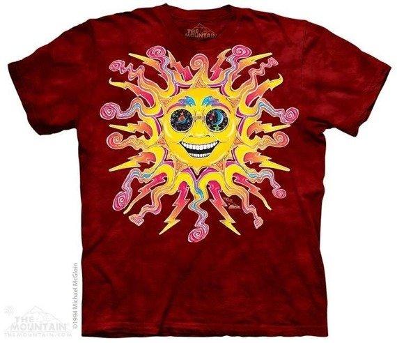 koszulka THE MOUNTAIN - BATIK SUN, barwiona