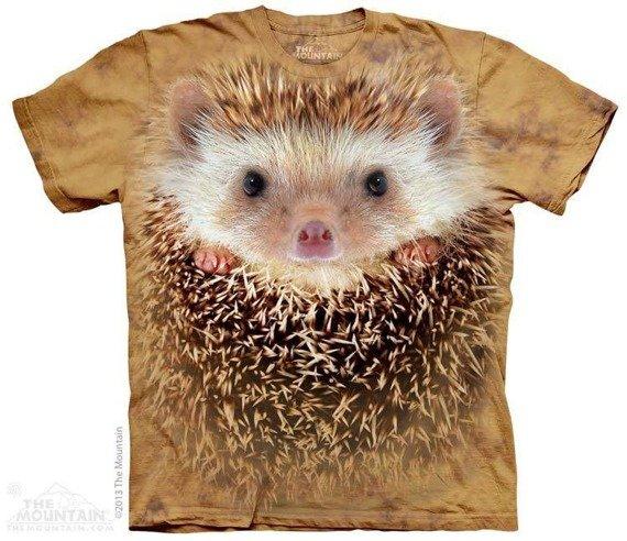 koszulka THE MOUNTAIN - BIG FACE HEDGEHOG, barwiona