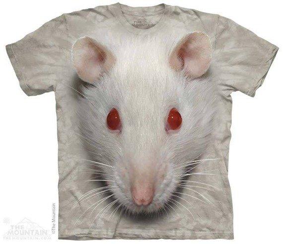 koszulka THE MOUNTAIN - BIG FACE WHITE RAT, barwiona
