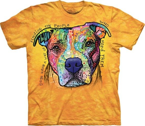 koszulka THE MOUNTAIN - DOGS HAVE A WAY, barwiona