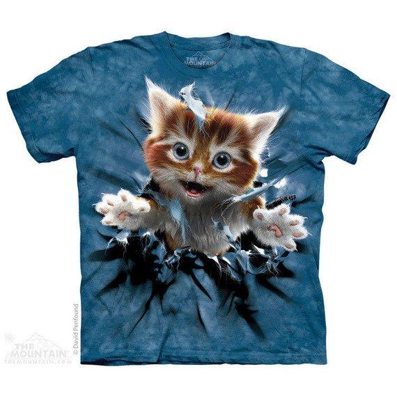koszulka THE MOUNTAIN - GINGER KITTEN BREAKTHROUGH, barwiona