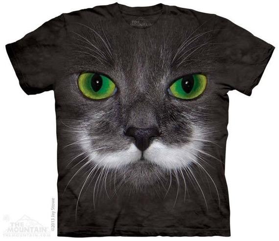 koszulka THE MOUNTAIN - HAMILTON HIPSTER CAT, barwiona