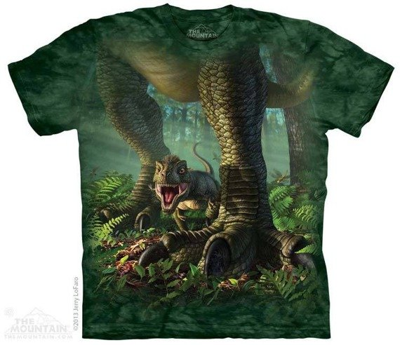 koszulka THE MOUNTAIN - WEE REX, barwiona