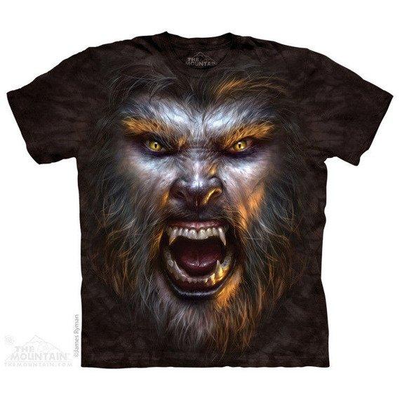 koszulka THE MOUNTAIN - WEREWOLF FACE, barwiona