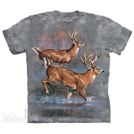 koszulka THE MOUNTAIN - WHITETAIL RUN, barwiona