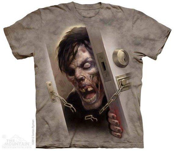 koszulka THE MOUNTAIN - ZOMBIE AT THE DOOR, barwiona