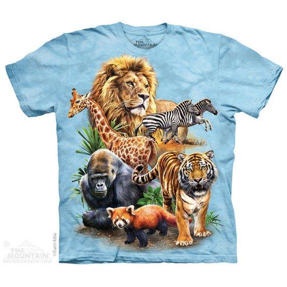 koszulka THE MOUNTAIN - ZOO COLLAGE, barwiona