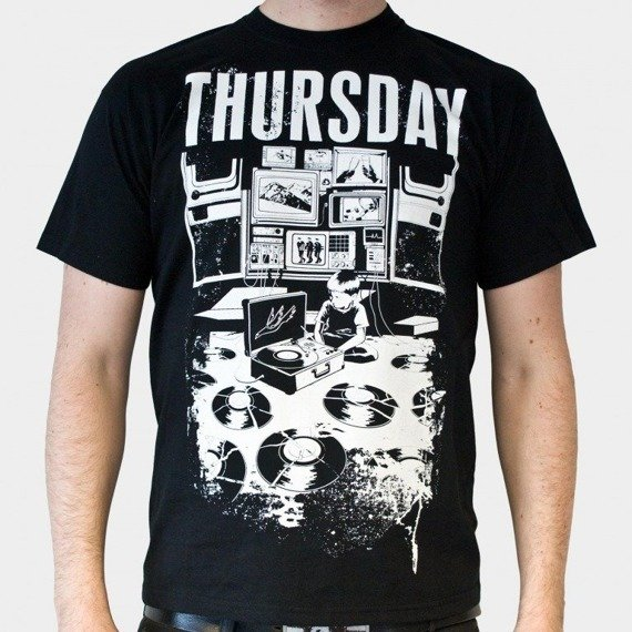koszulka THURSDAY - BROKEN VINYL (BLACK)