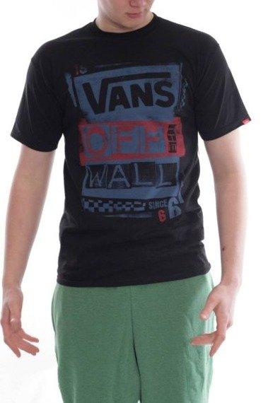 koszulka VANS - M STENCILED BLACK BLUE