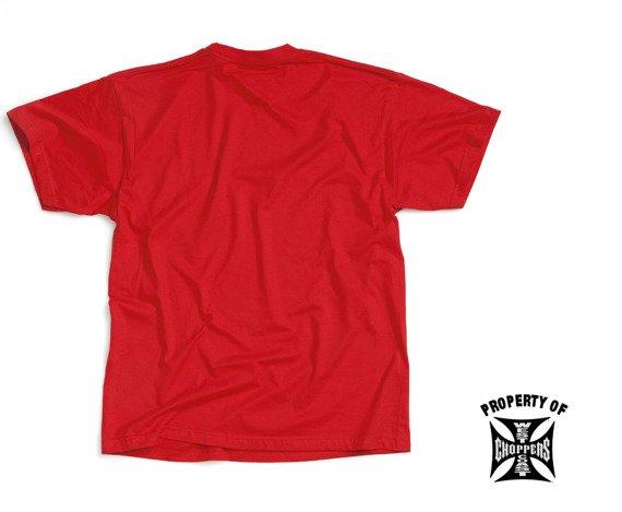 koszulka WEST COAST CHOPPERS - CHROME BLOOD czerwona